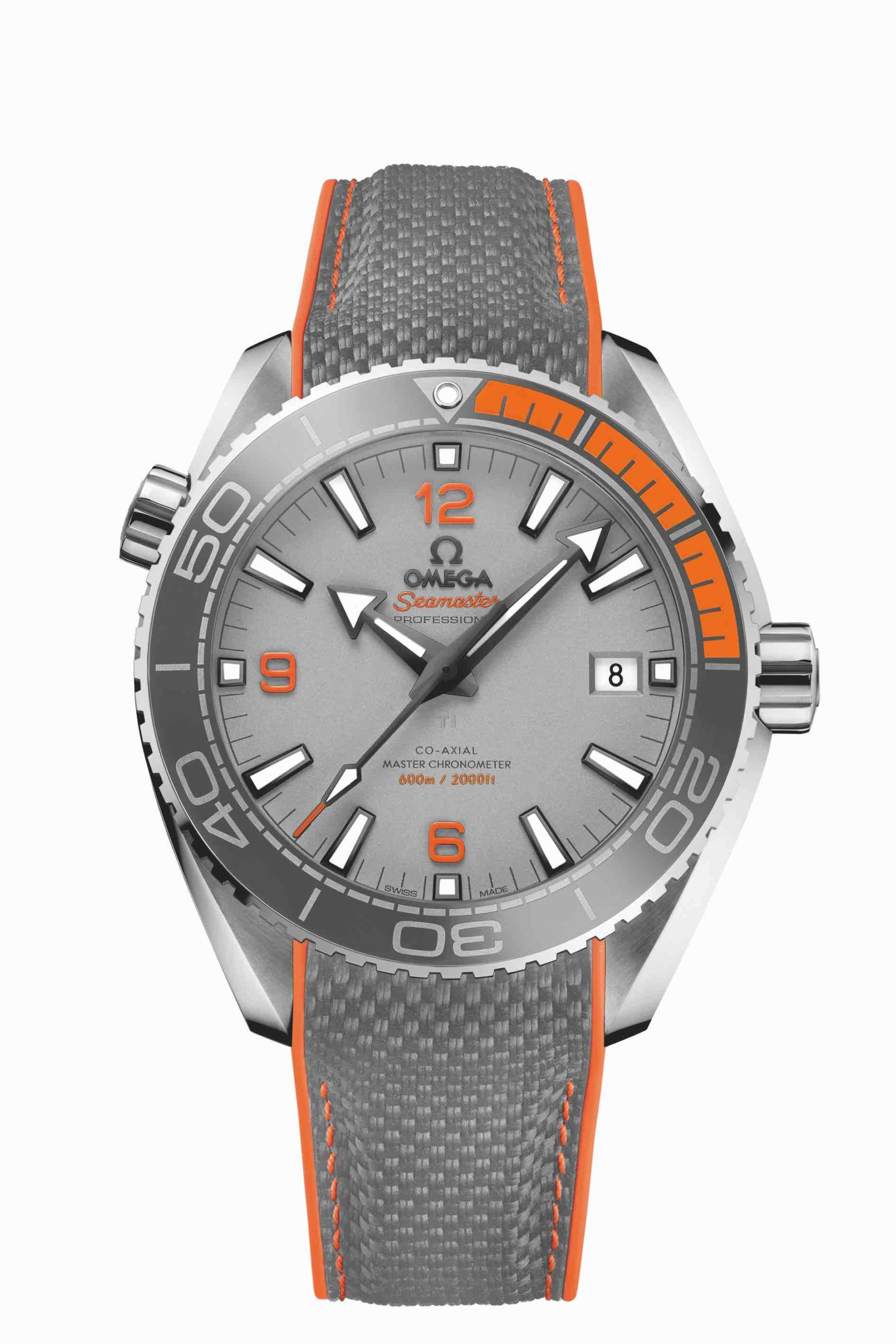 Wasserdichte Uhr von Omega, Orange Grau