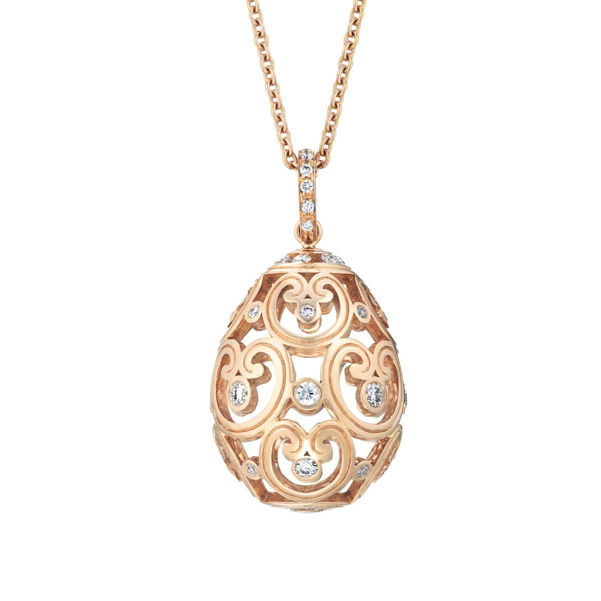 P Impératrice Diamond Rose Gold Pendant Kopie