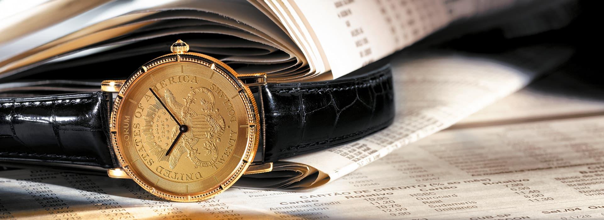 corum lifestyle coin watch
