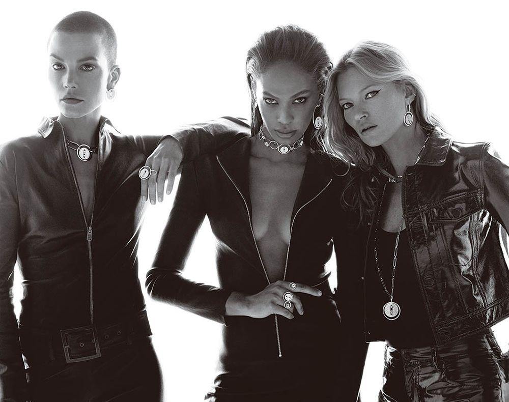 drei models mit schmuck von messika
