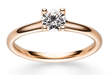 goldener ring mit diamant aus der hs collection
