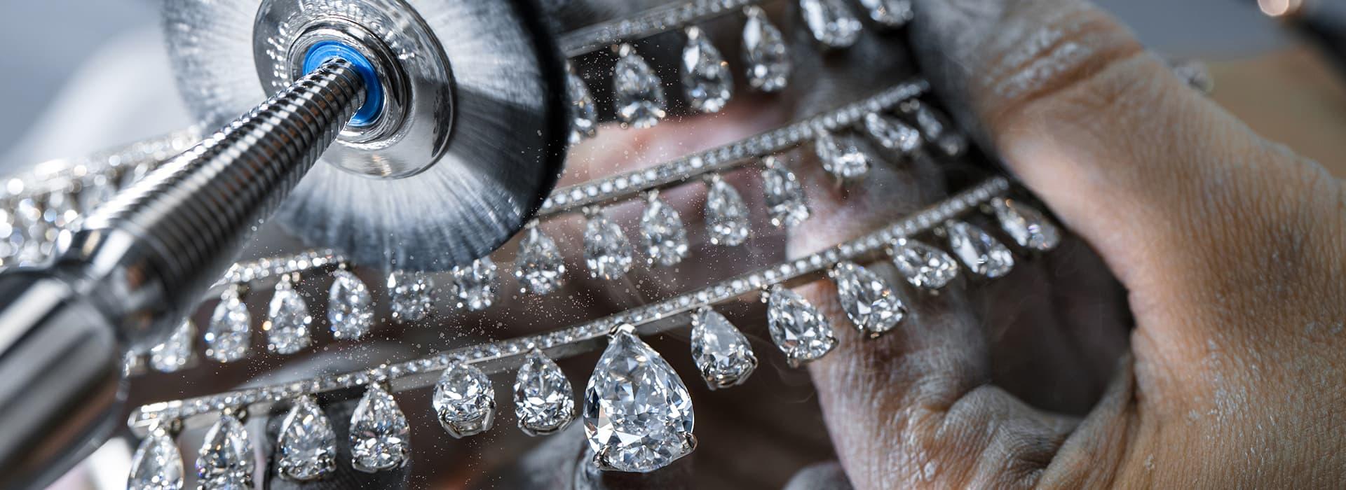 messika white diamond necklace